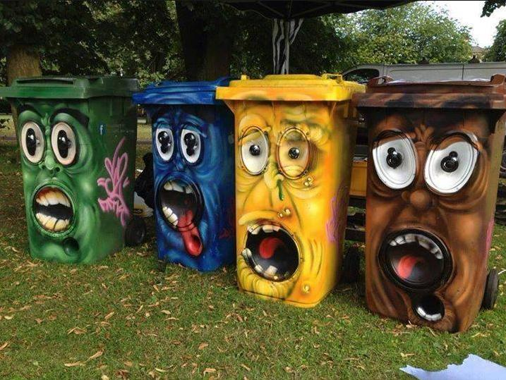 cool-painted-garbage-cans-funny-photo