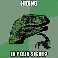 Hiding in plain sight?