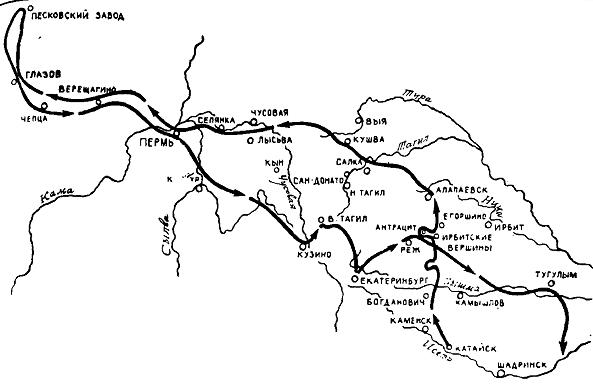 Боевой путь Акулова на Восточном Фронте июль1918-август1919
