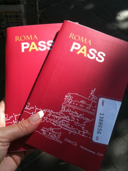Roma Pass for tourists