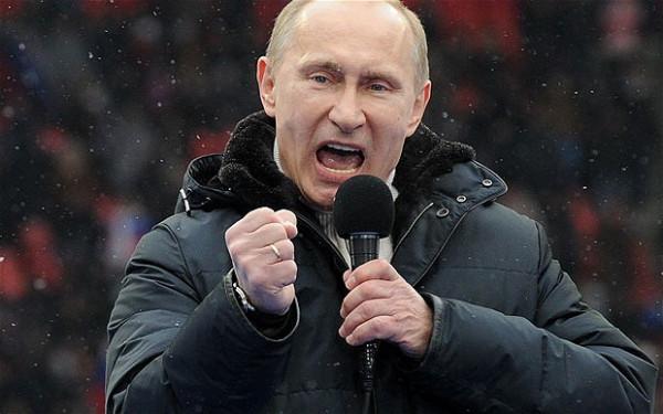 путин с микрофоном