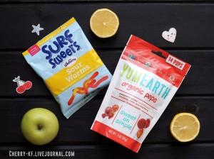 YumEarth, Organic Pops, Органические леденцы, ассорти вкусов отзывы.jpg