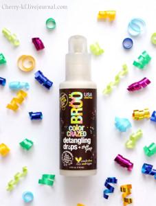 BRöö, Color Crazed Detangling Drops, Quinoa Colada, средство для облегчения расчесывания Киноа Колада, отзывы фото.jpg