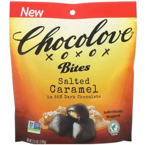 Chocolove, Bites, Salted Caramel in 55% Dark Chocolate отзывы.jpg
