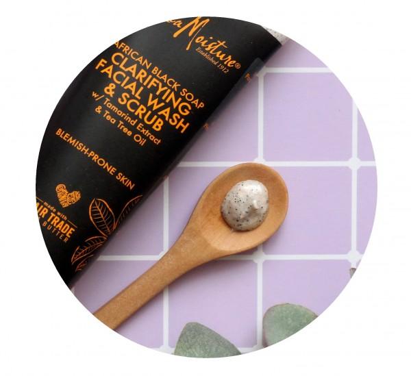 SheaMoisture, Африканское черное мыло, средство для умывания и скраб для лица отзывы состав.JPG