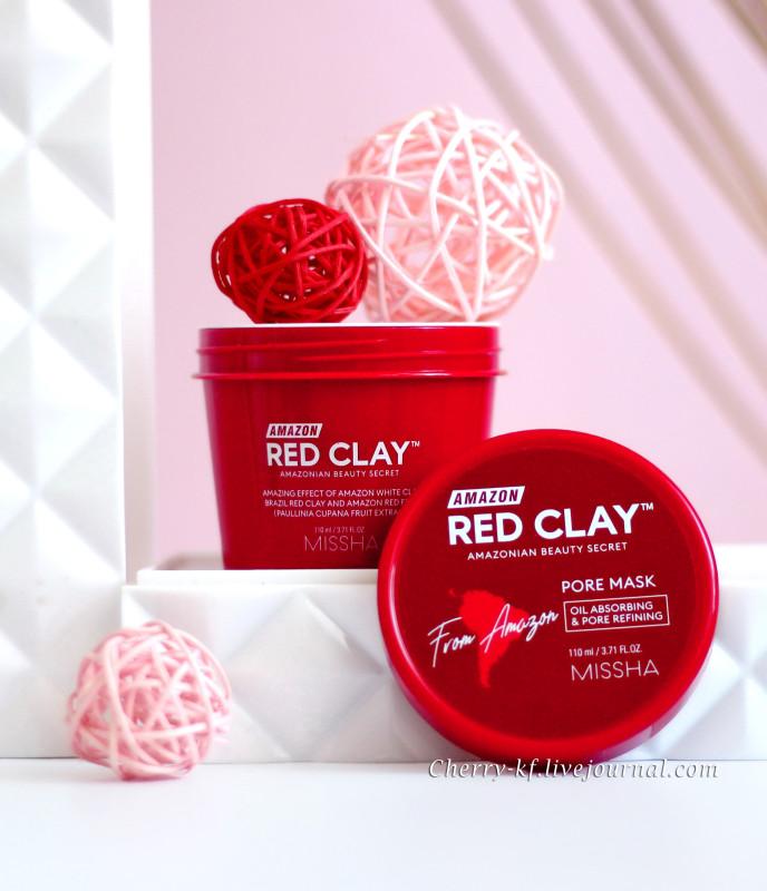 Missha, Amazon Red Clay Pore Mask отзывы.jpg
