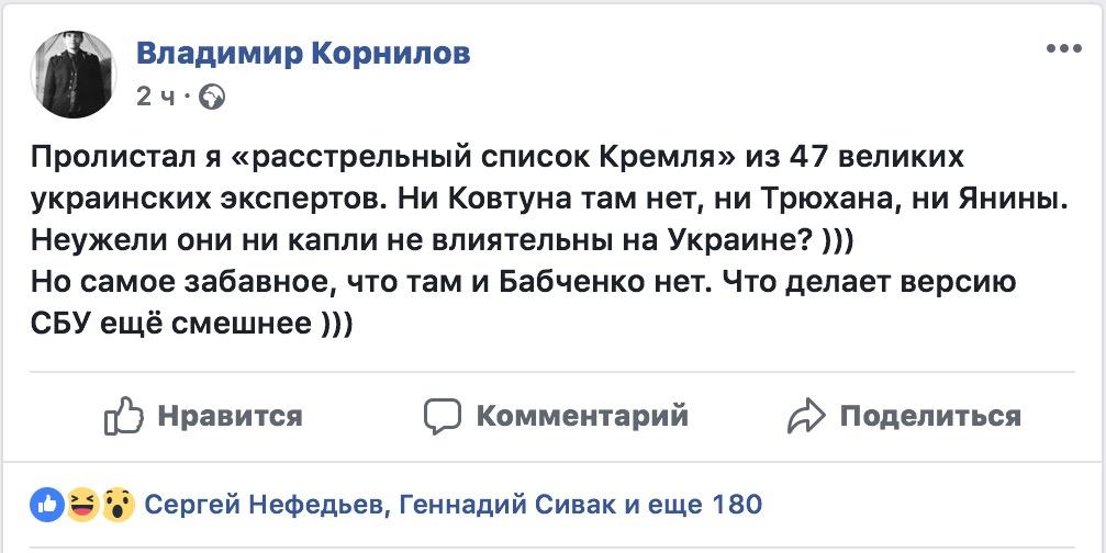 В расстрельном списке «убийцы Бабченко» не оказалось Бабченко