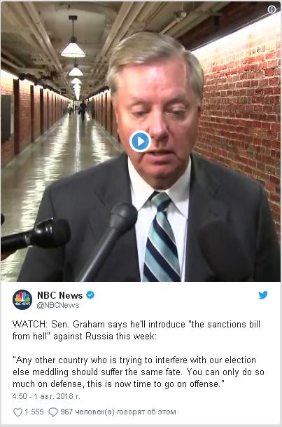 Американский сенатор пообещал для России санкции «из самого ада»
