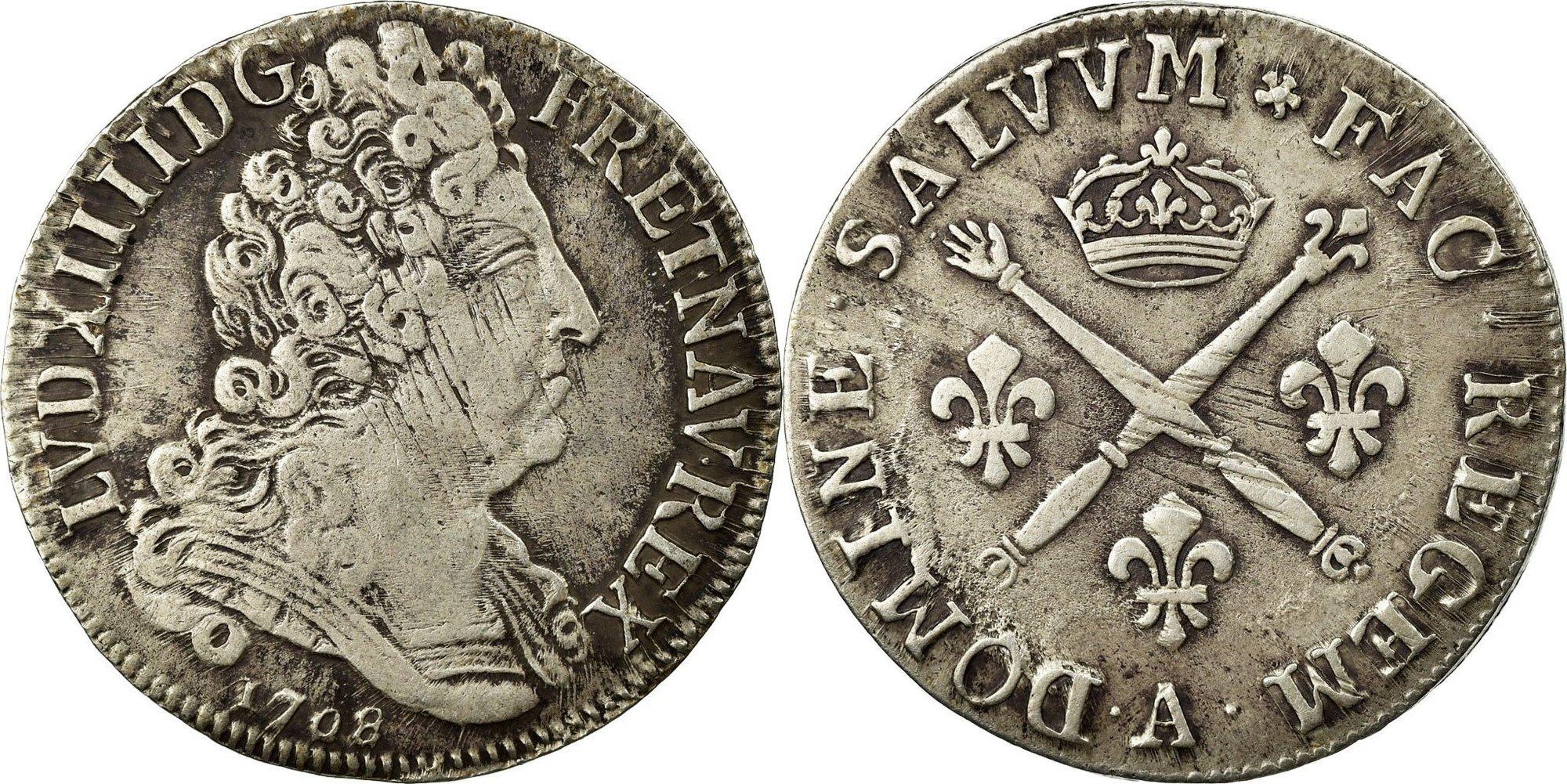 Вопрос нумизматам о монете времён Луи XIV