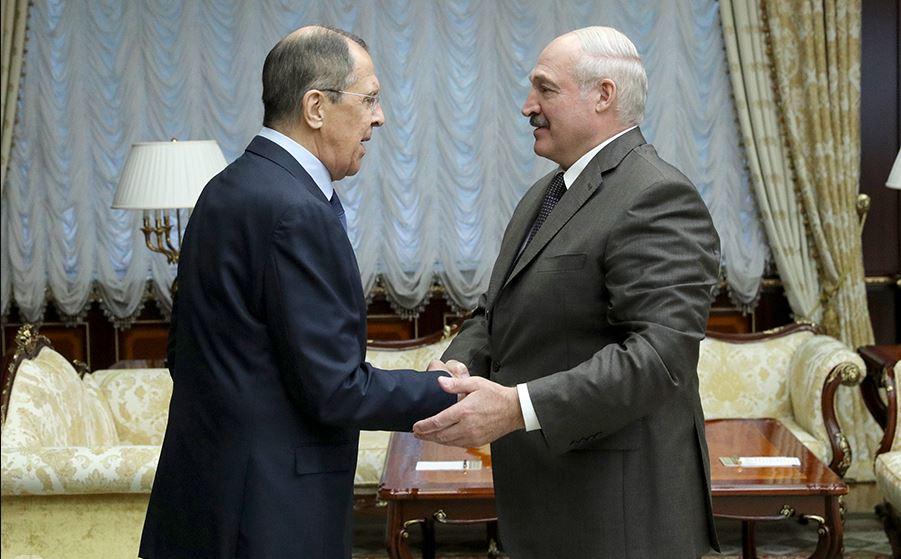 Встреча Лаврова и Лукашенко в Минске