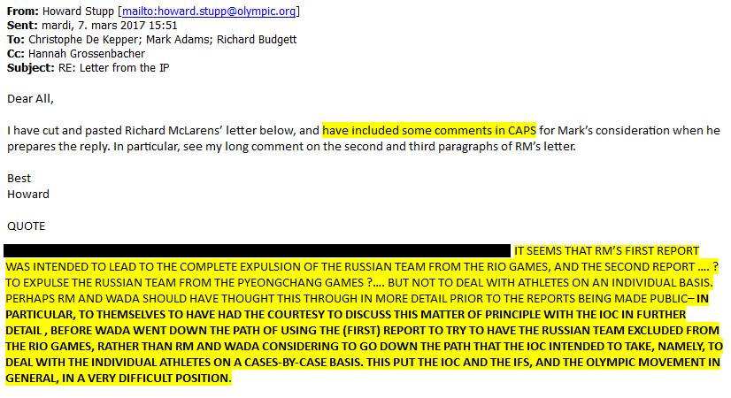 Хакеры вскрыли переписку представителей МОК об истинных планах Макларена