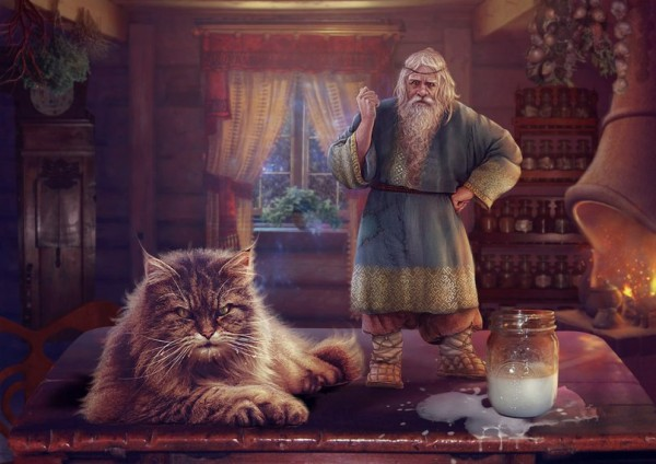 Рассказ про домового и кота