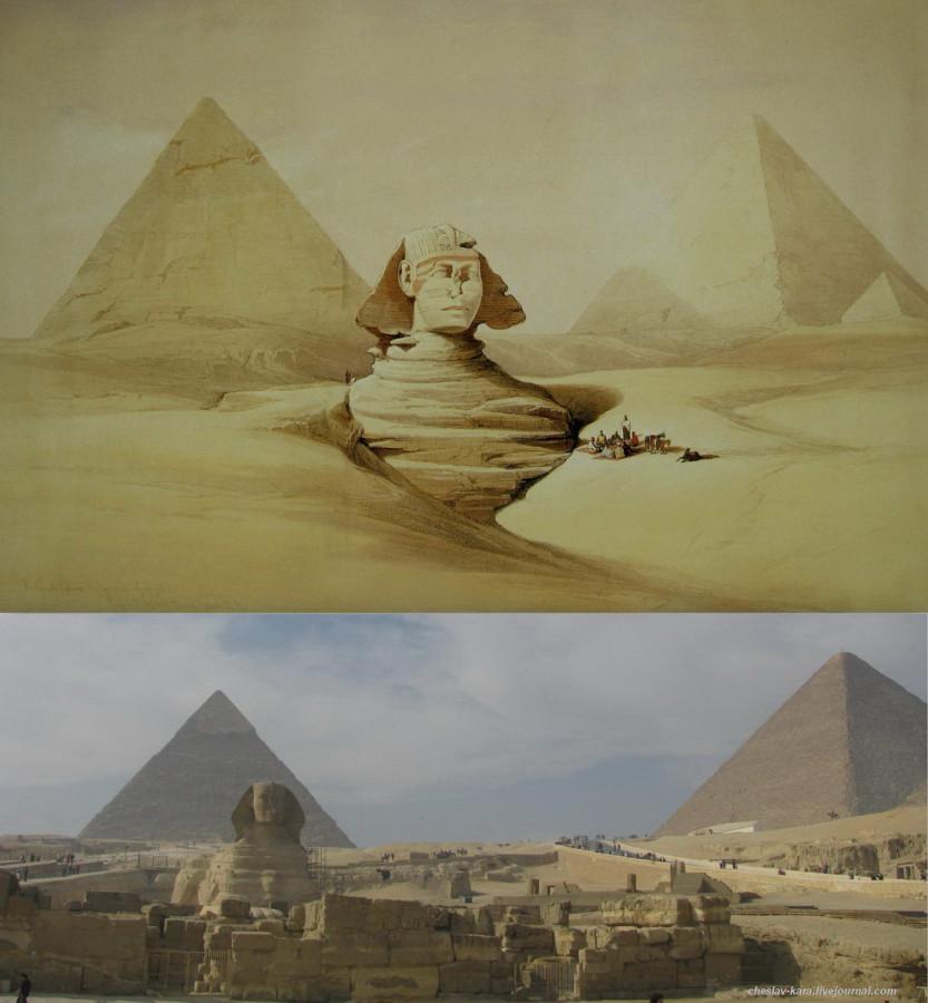 2 Гиза - Сфинкс и Пирамиды.jpg