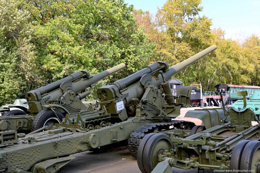 312- 152 мм БР-2 и 203 мм Б-4М _80 (Поклонная гора, 2019).JPG