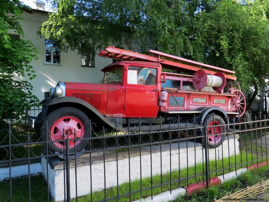 Пожарный ГАЗ-АА в Великом Новгороде.