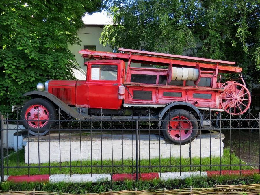 Пожарный ГАЗ-АА в Великом Новгороде. пожарные