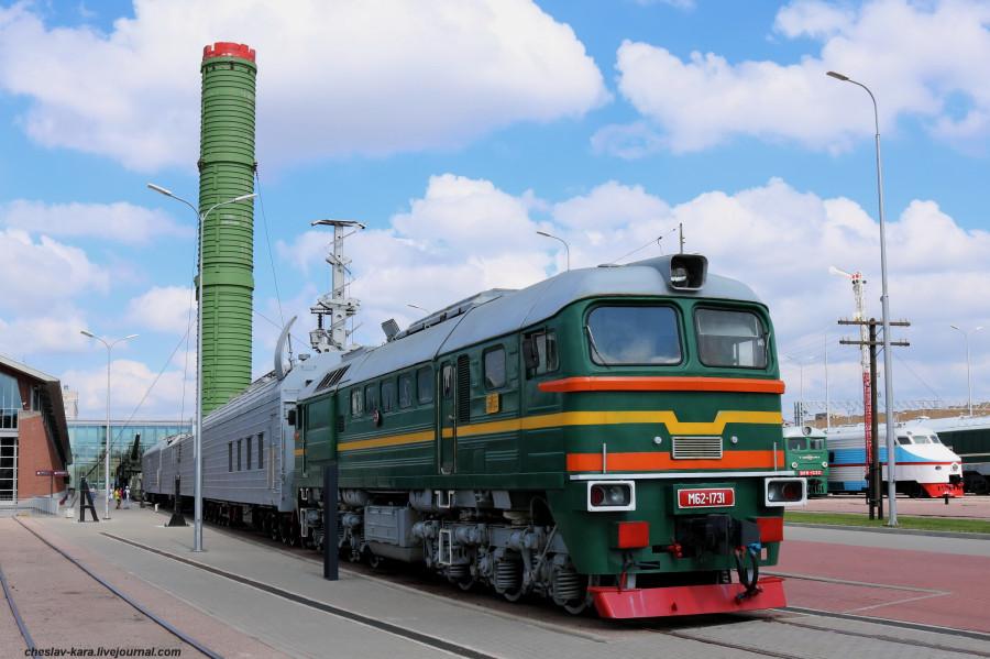 Музей железных дорог России, ч.5 - военная техника и краны.