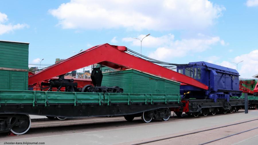 Музей железных дорог России, ч.5 - военная техника и краны. санкт-петербург