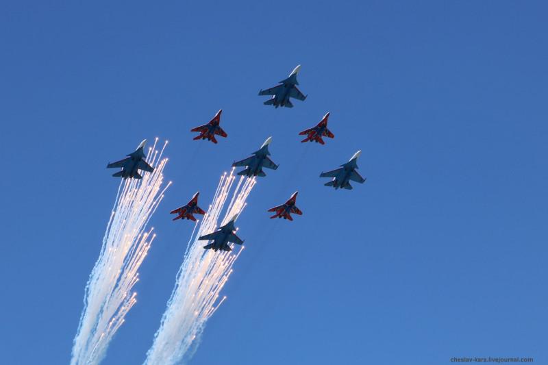 Парад Победы 2018 _13900 Су-30СМ, МиГ-29.JPG