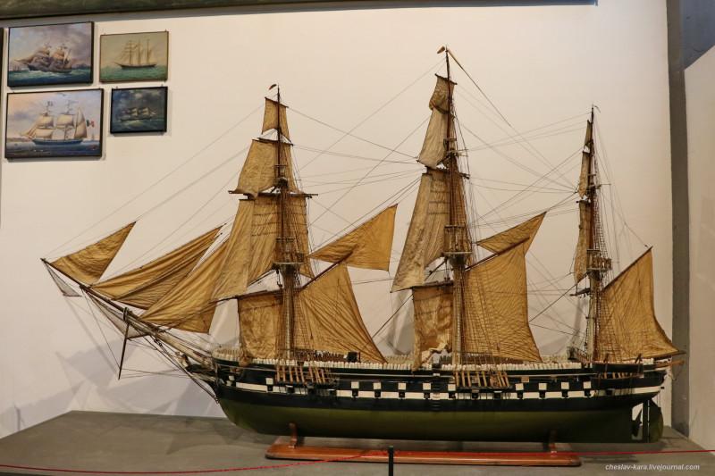 44 модель - ФР Minerva, Австрия, 1850 (морской зал музея техники, Милан) _20.JPG