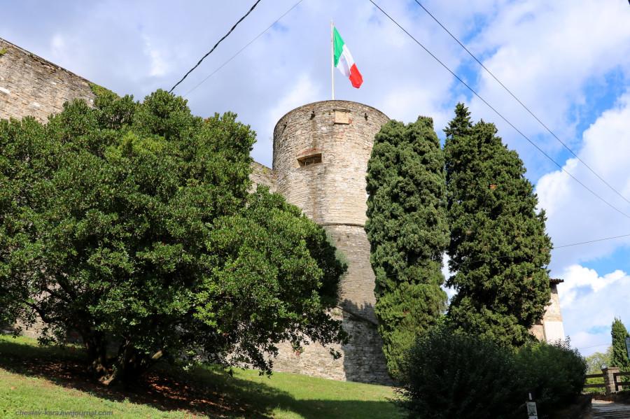 20 40 Бергамо _1221 Крепость Rocca di Bergamo.JPG