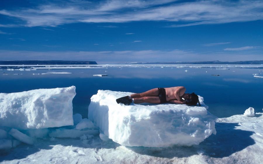 загорать на льдине