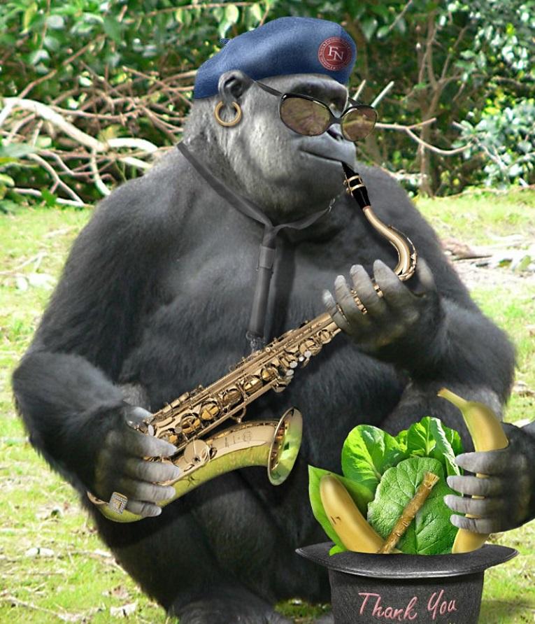 горилла и саксофон