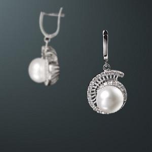 пресноводный жемчуг серебро925