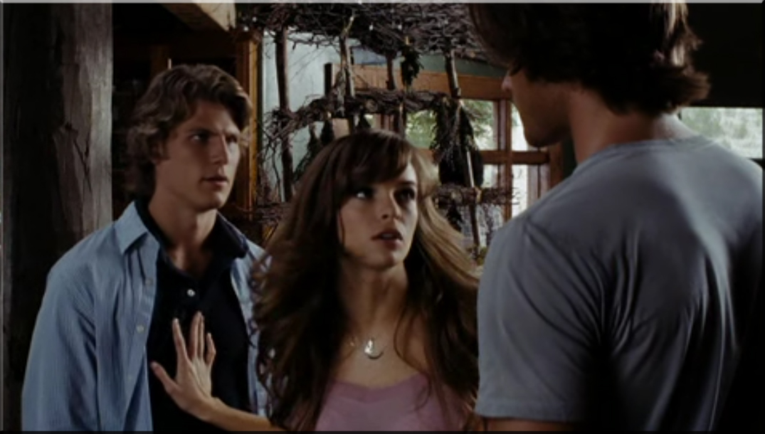 Travis Van Winkle as Trent, Danielle Panabaker as Jenna and Jared Padalecki as Clay Miller