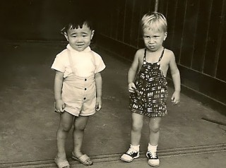 Me in Japan.  I'm the blond.