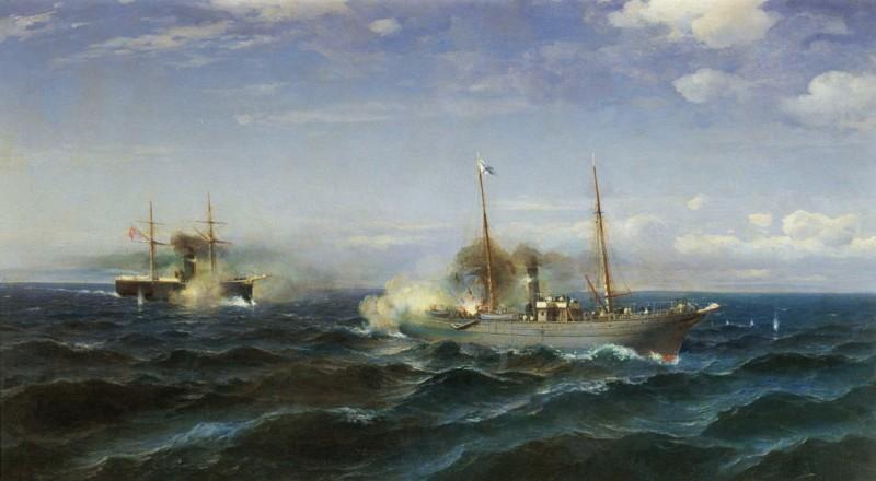 Судковский Р. Г. «Бой парохода «Веста» с турецким броненосцем «Фетхи-Буленд» в Чёрном море 11 июля 1877 года».