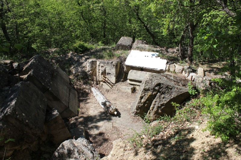 Руины ДОТа №8. Фото Алексея Бояринцева.