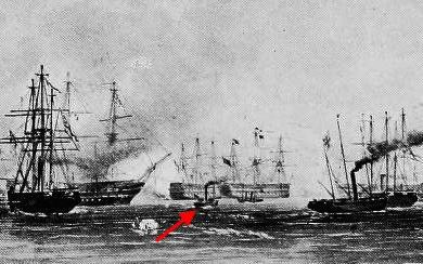 Тендер HMS «Circassian» в сражении 17 октября 1854 г.