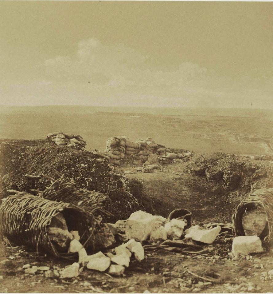 Барбет для полевого орудия на бруствере Гласисной батареи Корниловского бастиона (Малахов Курган). За ним виден бастион №3.