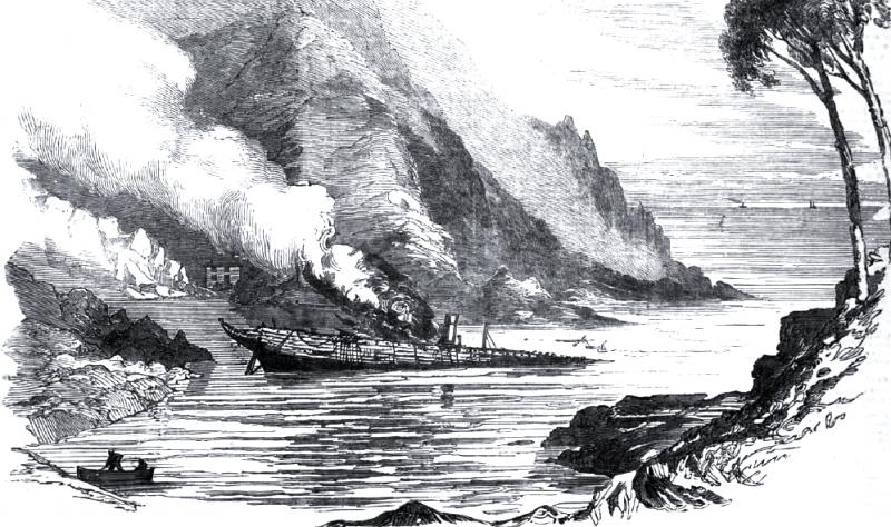 Остов транспорта No.191 «Croesus» в бухте Сан-Фруттуозо.