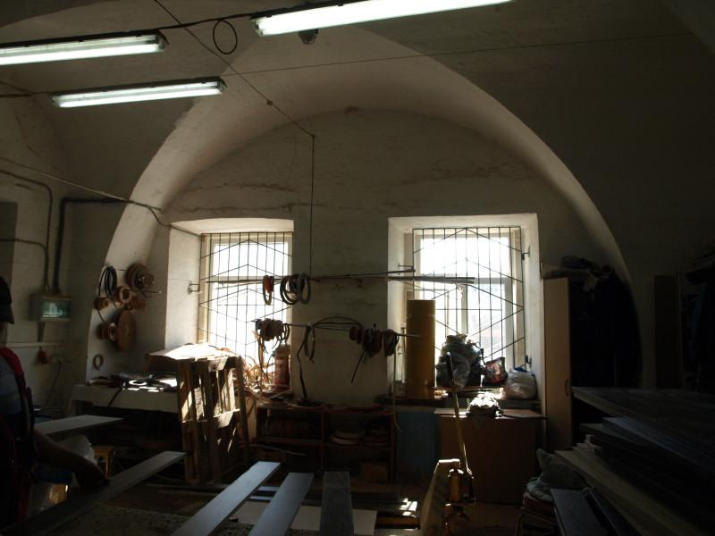 Окна жилого каземата в горжевой стене.
