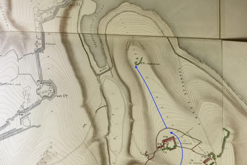 Перемещение орудия в ходе боя 26 мая 1855 г.