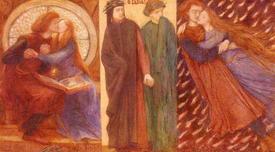 Паоло и Франческа из Римини Россетти