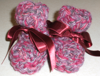 baby booties for sandy and her new baby girl
