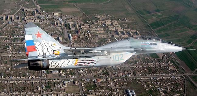 российские ВВС патрулируют границу