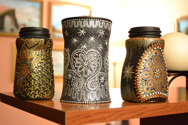 декор банок из-под кофе фото