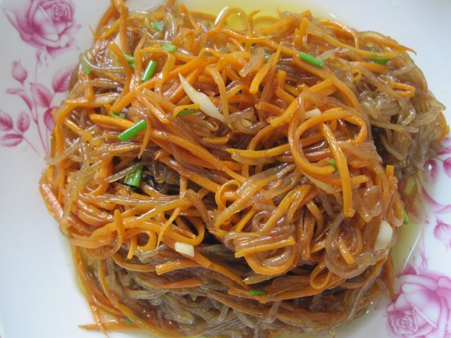 Рисовая лапша с моковью