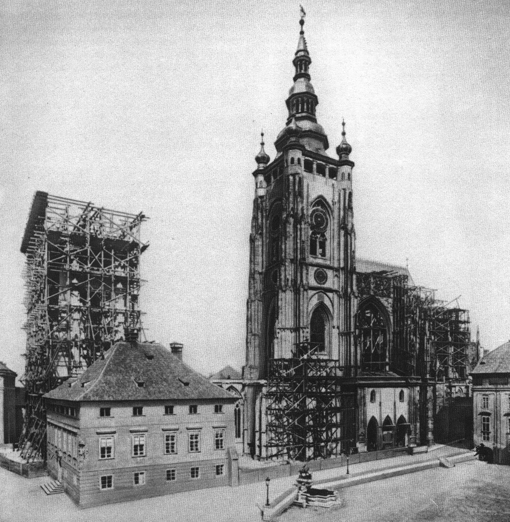 1887 год - стр-во собора св.Витта в Праге