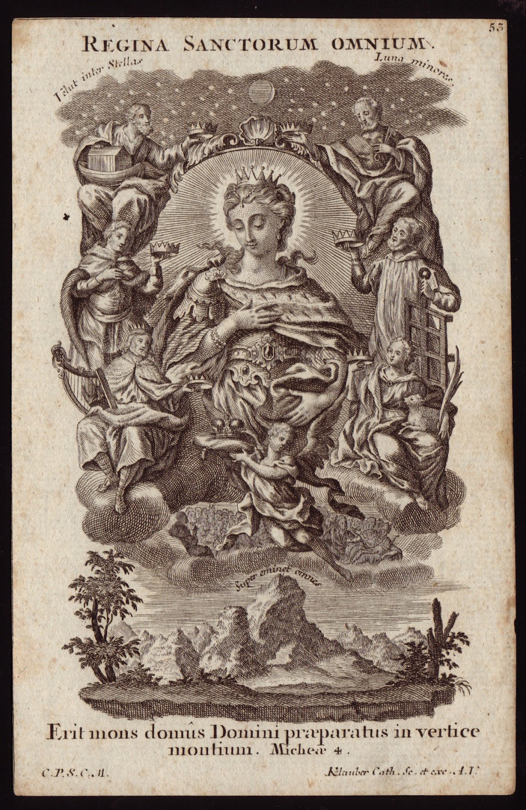 Queen of All Saints Klauber engraving
