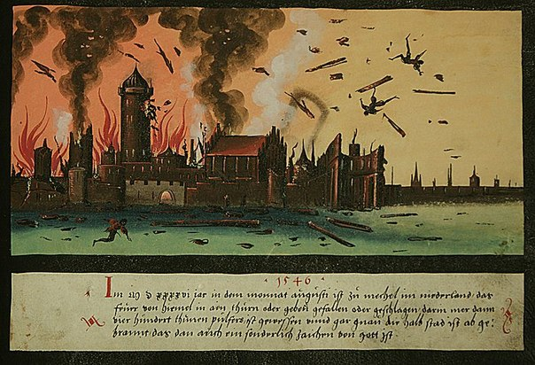1546 Folio 133 In 1546, in the month of August, the fire from the sky