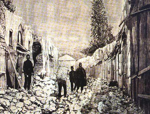 İstanbul street scene after the quake of 1894
