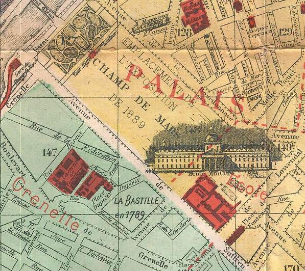 1889 с Бастилией план