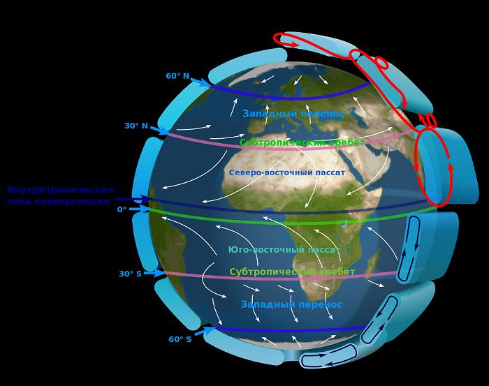 Карта пассатов