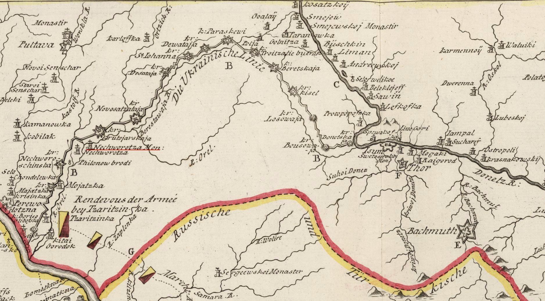 Украинская линия самообороны 1731-1735
