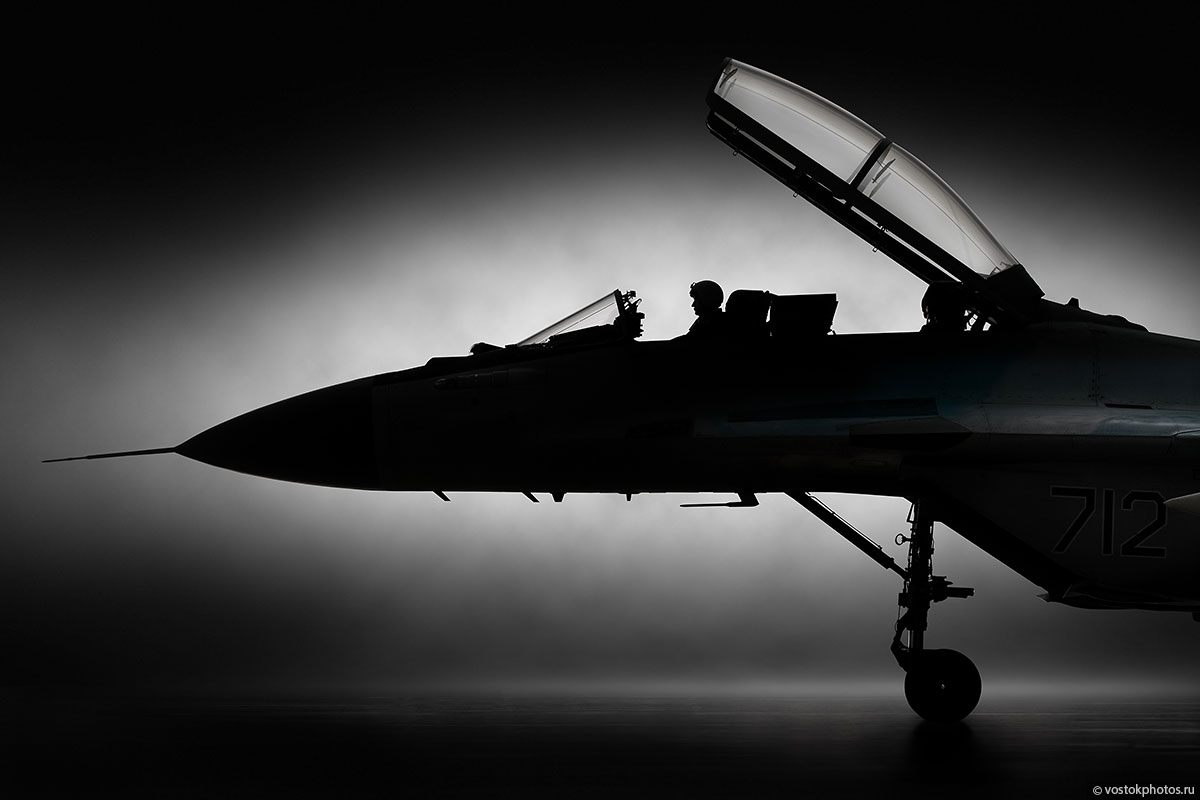 Рекламная фотосъемка истребителя МиГ-35